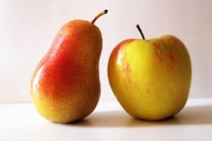 Яблоко и груша
