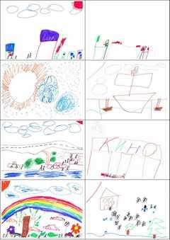 Рисунки детей из Казахстана